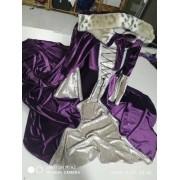 Conjunto Vestido Medieval Luxo Princesa Com Capa