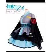 Cosplay Hatsune Miku Saia Kimono E Faixa Cintura