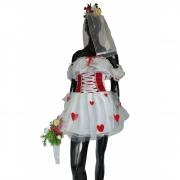 Vestido Caipira Noiva Branco Tule Corações Vermelhos com Vel