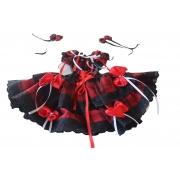 Vestido Caipira Xadrez Vermelho  Infantil