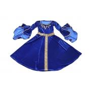 Vestido medieval azul royal adulto limitado