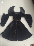 Vestido medieval infantil halloween com asas