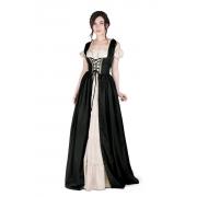 Vestido medieval Irlandesa mangas curtas