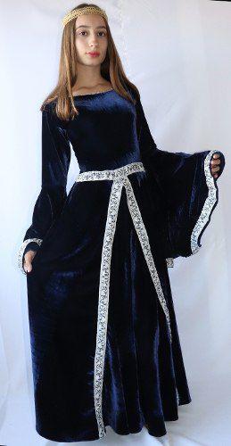 Fantasia Vestido Longo Medieval Celta Luxuosa