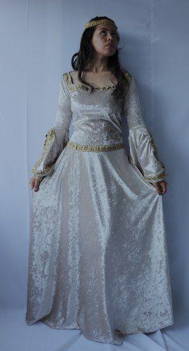Vestido Claro Medieval Julieta Romântico Época Teatro