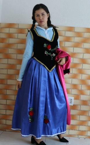 Vestido Cosplay Princesa Ana Da Frozen