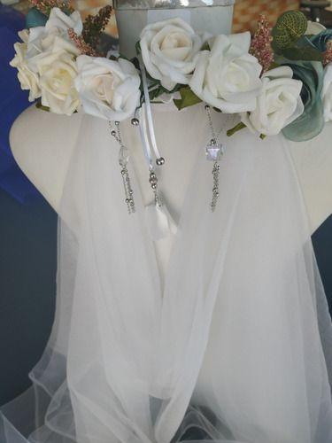 Vestido Noiva Medieval Luxuoso Completo Coroa De Flores Véu
