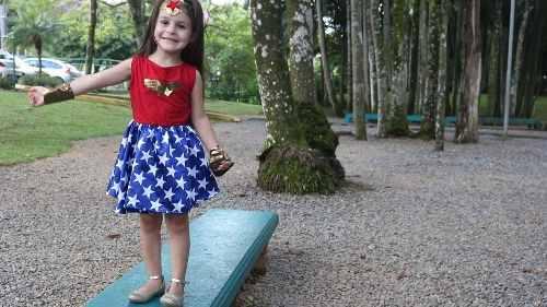 Fantasia Infantil Mulher Maravilha