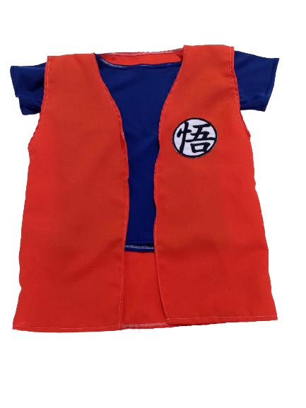 Fantasia Personagem Goku Tradicional Laranja Azul Infantil