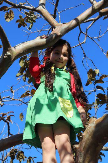 Fantasia Vestido Chiquinha Infantil