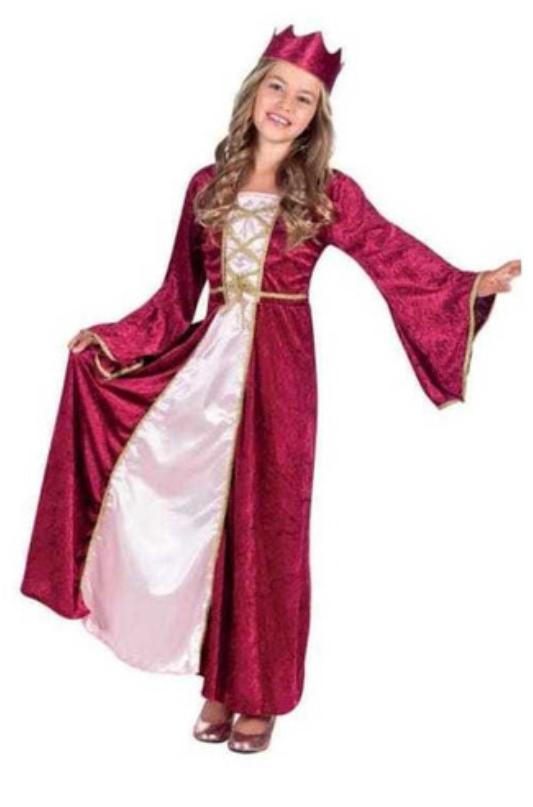 Vestido Medieval infantil duas cores
