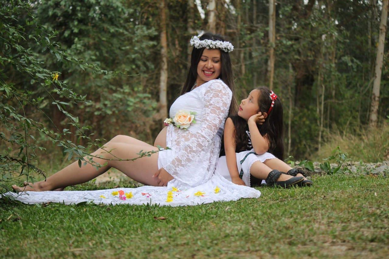 Vestido Gravida Renda Branca
