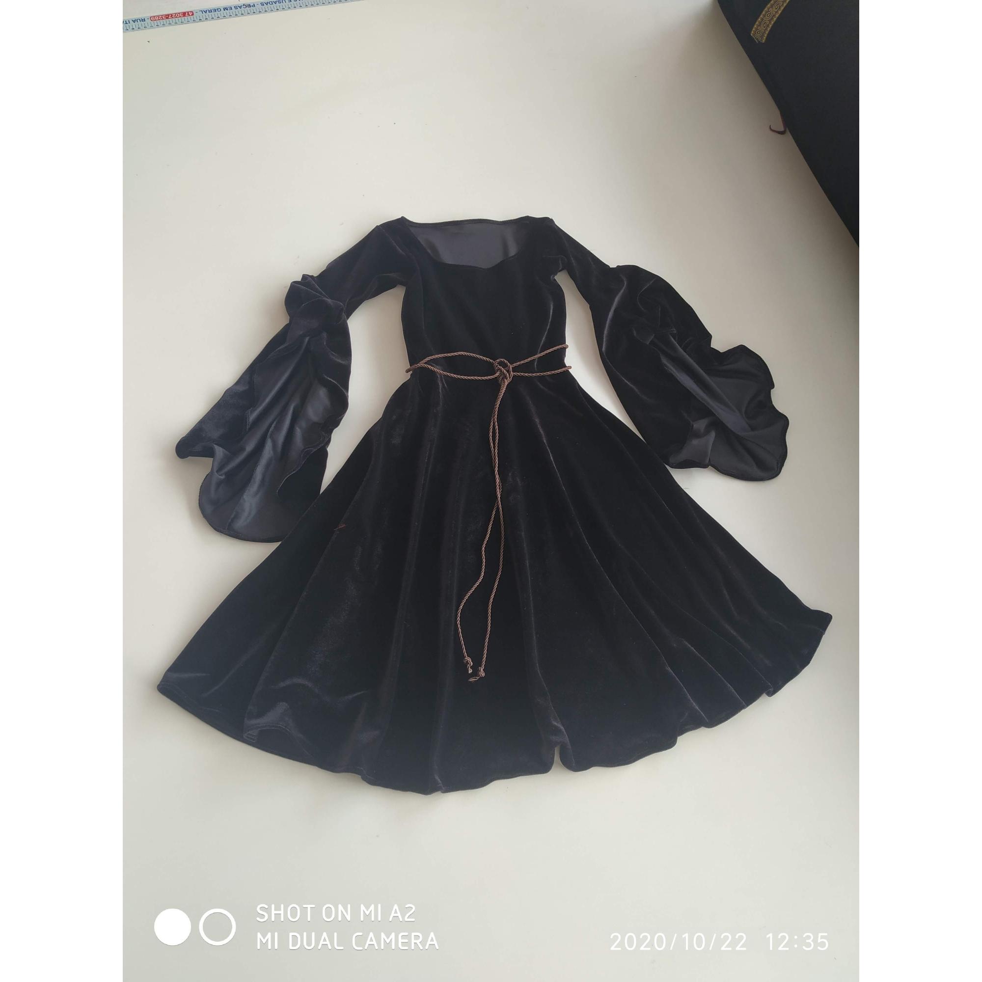 Vestido medieval bruxa clássica infantil
