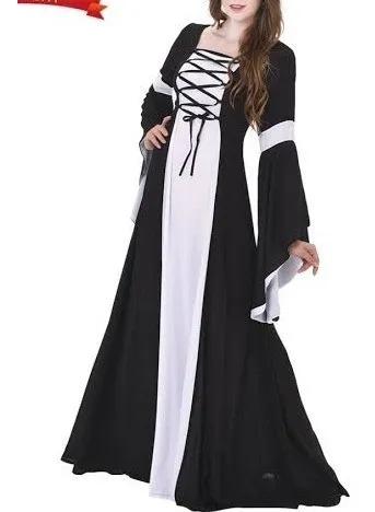 Vestido Medieval Tecido Leve Lindo Princesa Urbana