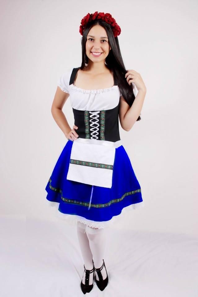 Vestido Tradicional Alemã Oxford