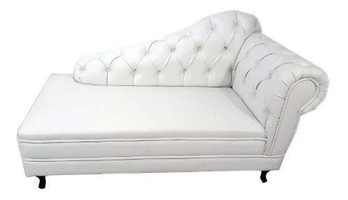Divã Preto Chaise Longue Sofá - Casa, Móveis E Decoração