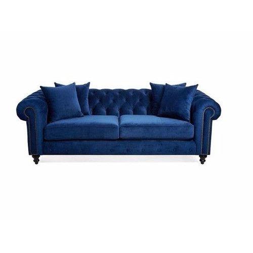 Sofá Chesterfield Azul Sala Decoração