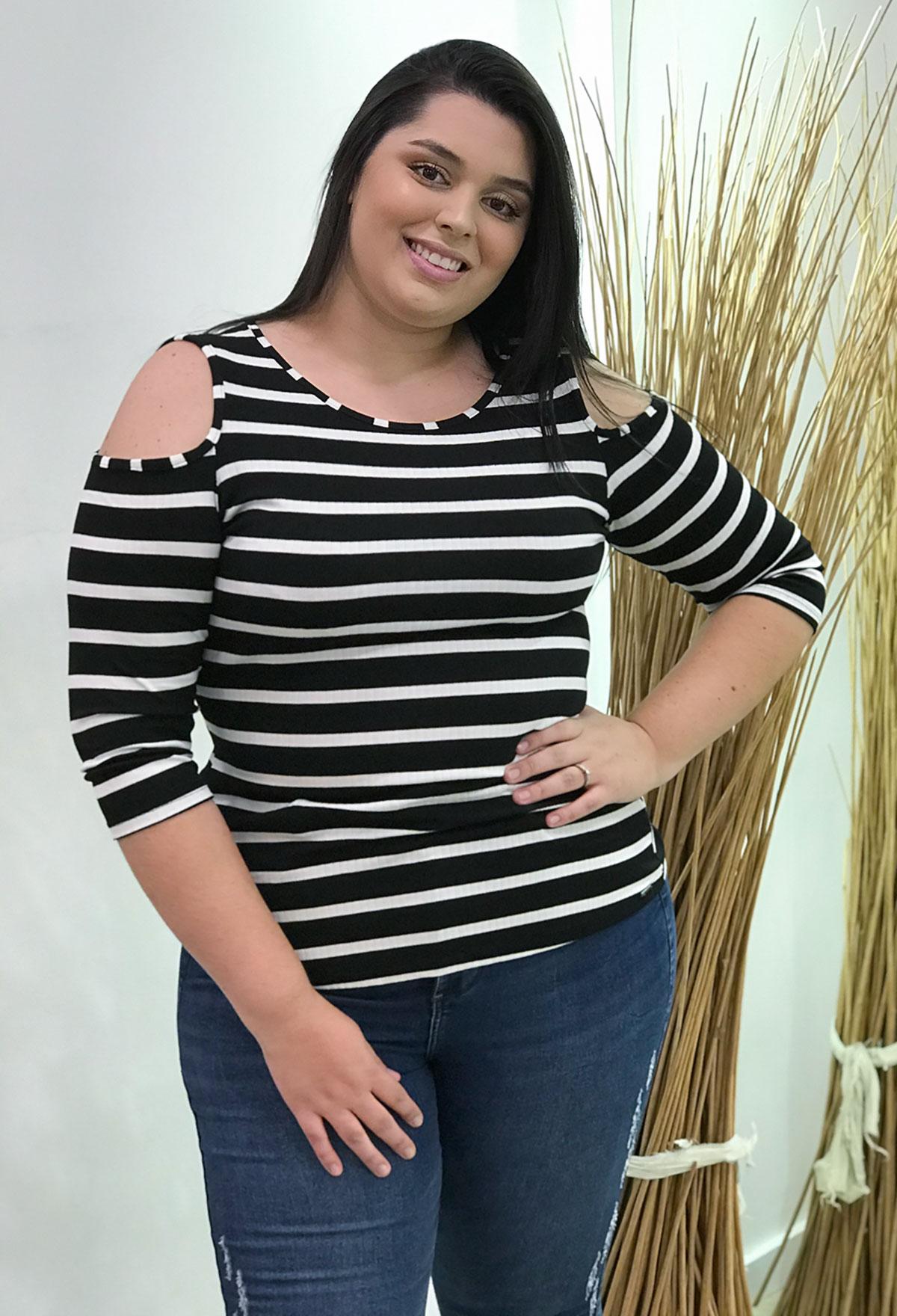 Blusa Feminina Lunender Wave Stripe