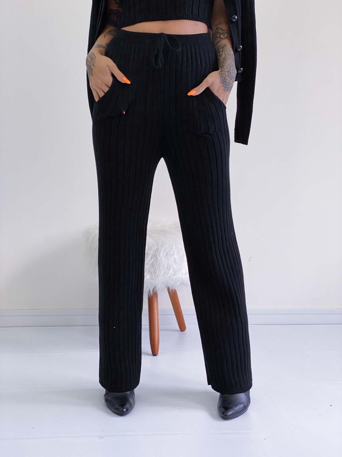 Calça Pantalona Tricot Feminino Zingara