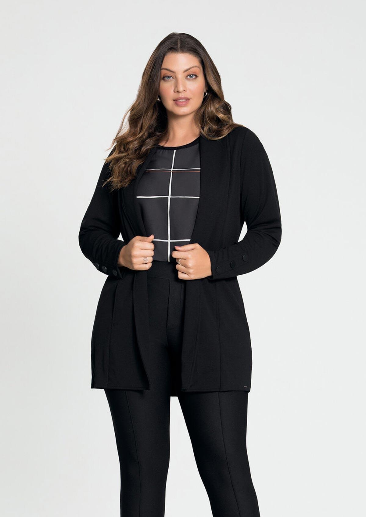 Casaco Alongado Feminino Lundender Plus Size