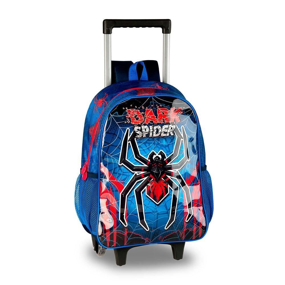Mochila de Rodinha Infantil Masculina Dark Spider