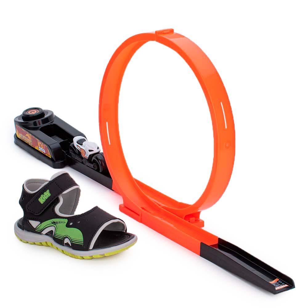 Papete Infantil Masculina Kidy Com Brinquedo Looping   BRINDE