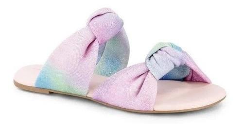 Sandália Infantil Feminina Bibi Little Me Tie Dye