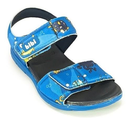 Sandália Infantil Masculina Bibi Basic Sandals Mini Estampado