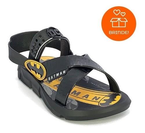 Sandália Infantil Masculina Grendene Batman Batmóvel