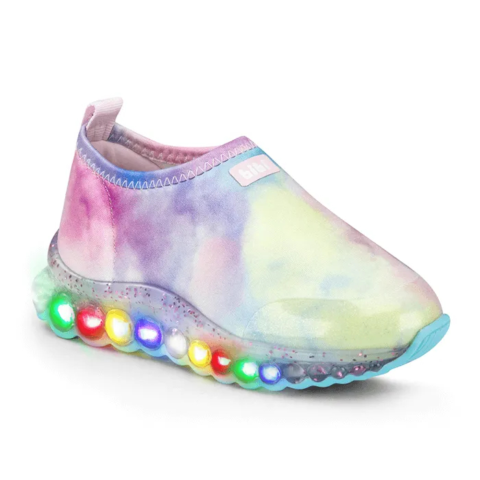 Tênis Infantil Feminino Bibi Roller Celebration Glitter Tie-Dye