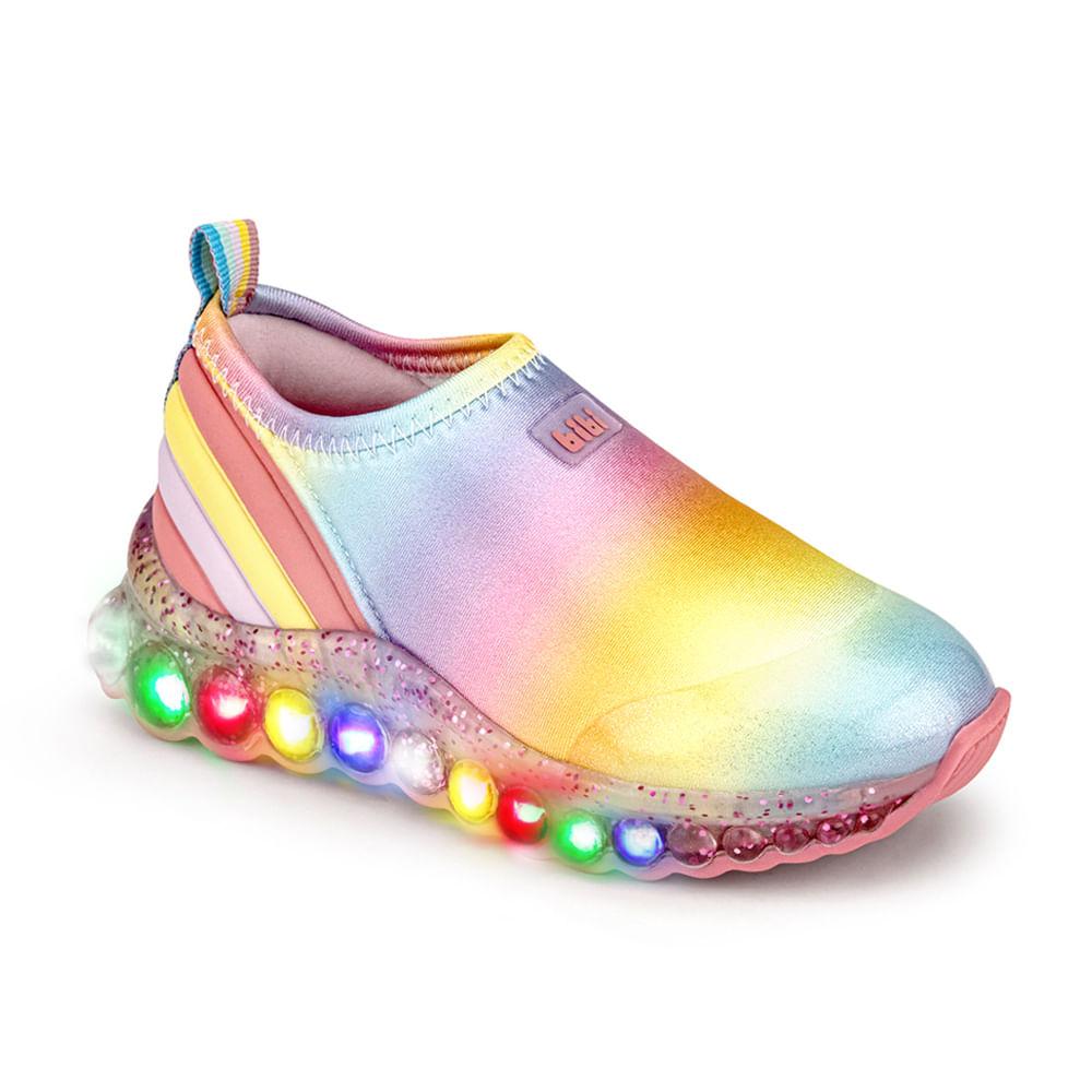 Tênis de led Infantil Feminino Bibi Roller Celebration