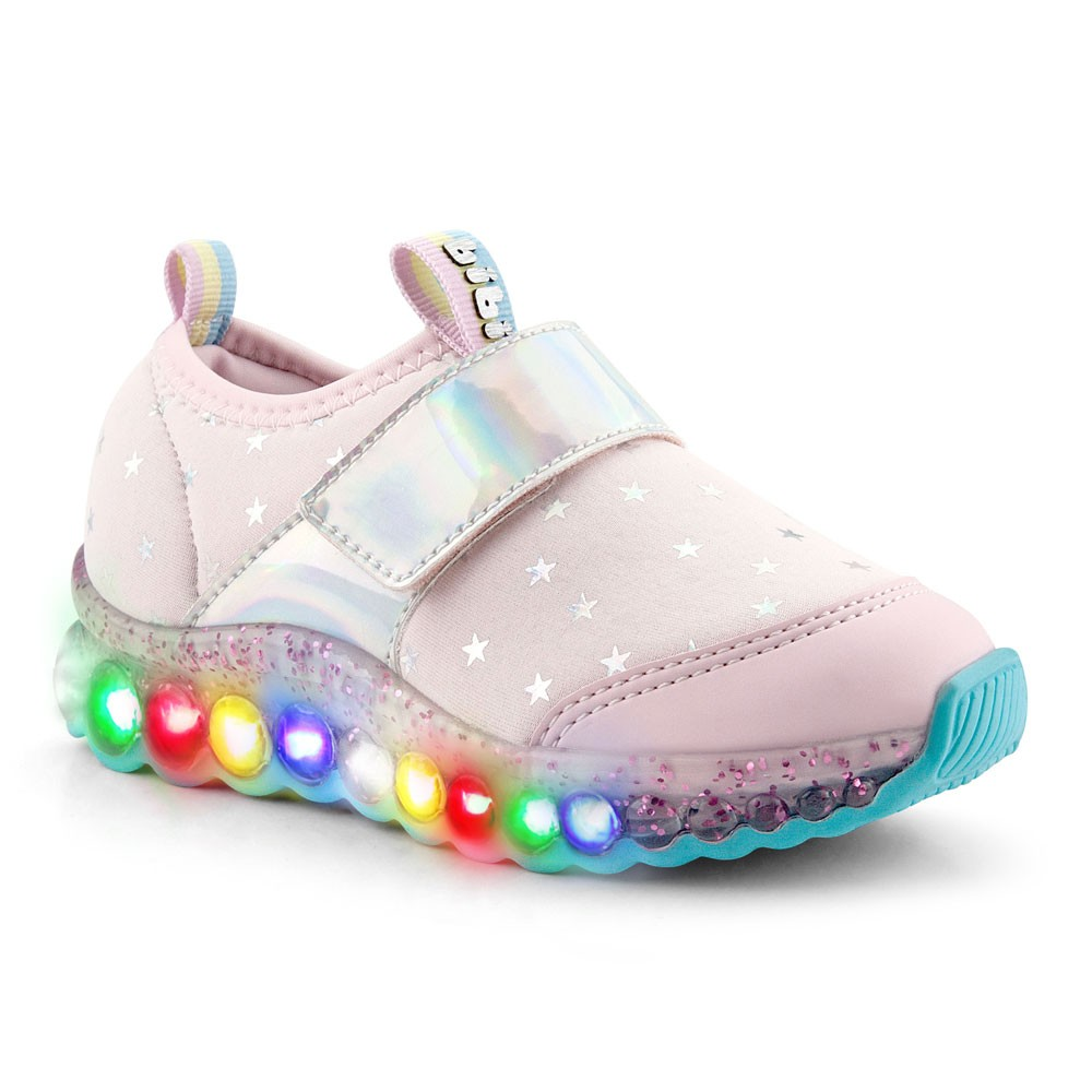 Tênis Infantil Feminino Bibi Roller Celebration Estrelas Holográfico
