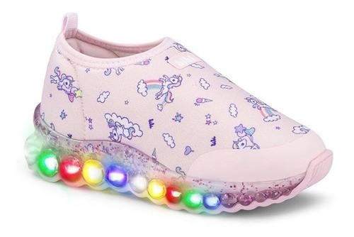Tênis Infantil Feminino Bibi Roller Celebration Glitter Estampa Unicórnio