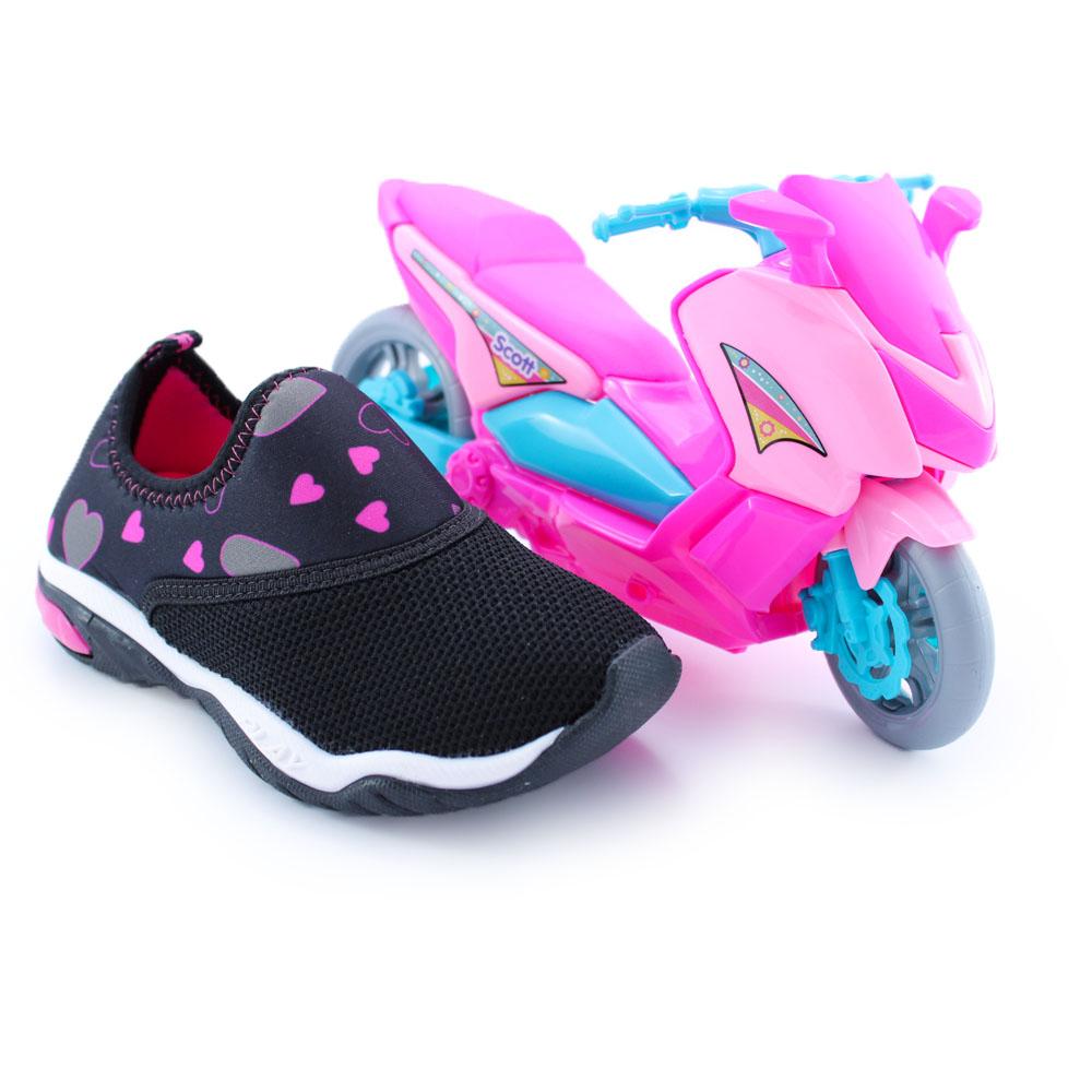 Tênis Infantil Feminino Kidy Play Resp-Tech | Brinde
