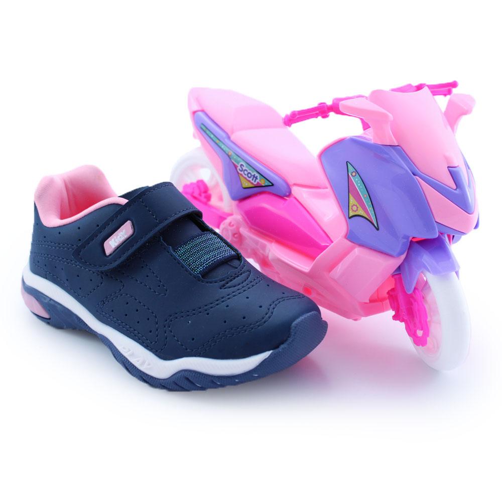 Tênis Infantil Feminino Kidy Play Resp-Tech