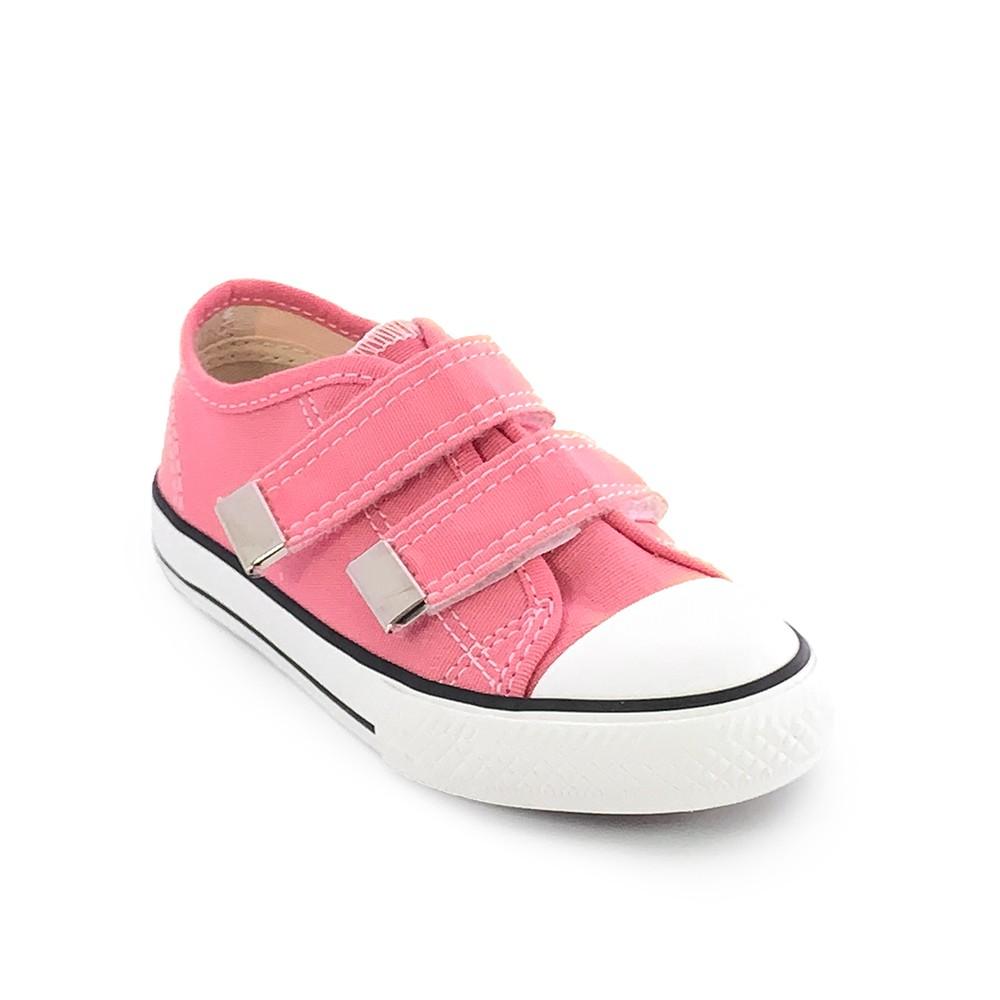 Tênis Infantil Feminino Street Star Básico Color Velcro