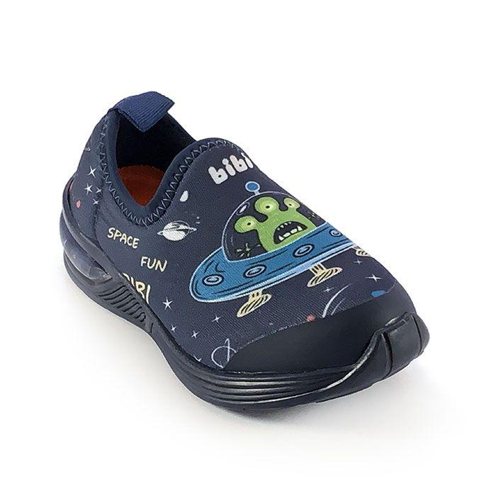Tênis Infantil Masculino Bibi Space Wave 2.0 Estampado Espaço Marinho
