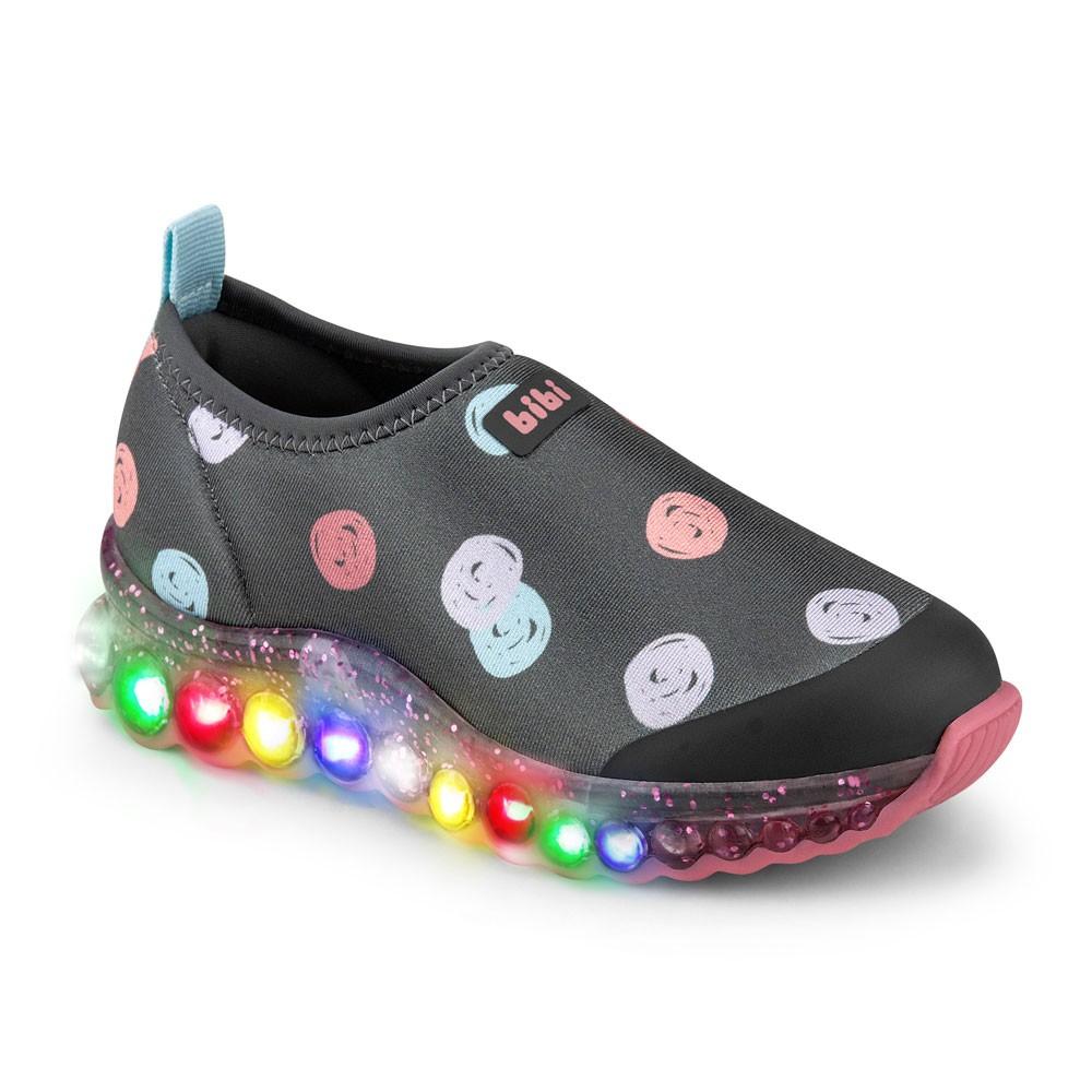 Tênis de led Infantil Feminino Bibi Roller Celebration Estampado