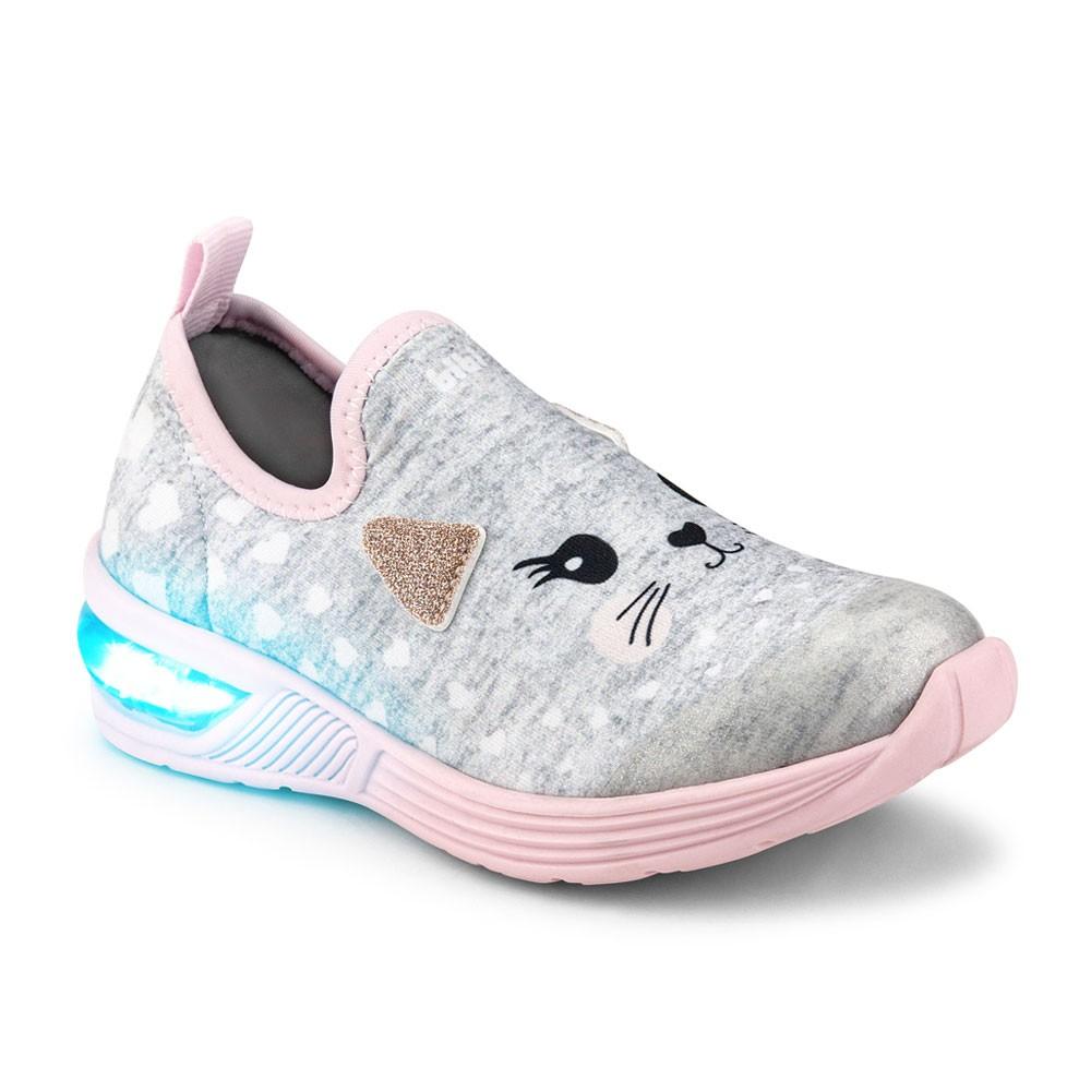 Tênis LED Infantil Feminino Bibi Space Wave 2.0 Gatinho