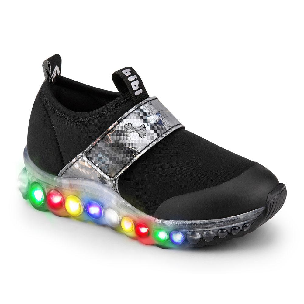 Tênis LED Infantil Masculino Bibi Roller Celebration 3D
