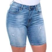 Bermuda Feminina Jeans 1/2 Coxa Crocker Jeans