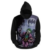 Blusa Moletom Com Capuz Coringa Batman Cor Preto Unissex