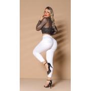 Calça Jeans Branca Cintura Perfeita Rhero Jeans