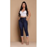 Calça Jeans Capri Corpo Perfeito Cintura Alta Amarração Rhero Jeans