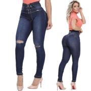 Calça Jeans Corpo Perfeito Cintura Alta Rhero Jeans Amarração