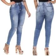 Calça Jeans Feminina Destroyer Super Lipo Sawary