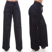 Calça Jeans Feminina Flare Com Cinto