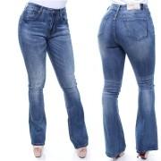 Calça Jeans Flare Feminina Confort Crocker