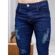 Calça Jeans Masculina Destroyed Escuro Fênix Jeans