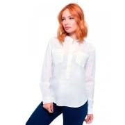 Camisa Feminina  Manga Longa Lisa Cor Branco